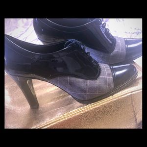 Black and gray shoes